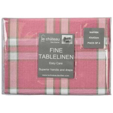 Le Chateau Yarn Dyed Woven Pink Napkins