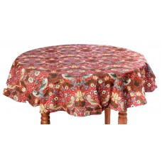 William Morris Gallery Red Strawberry Thief Minor PVC Oil Table Cloths