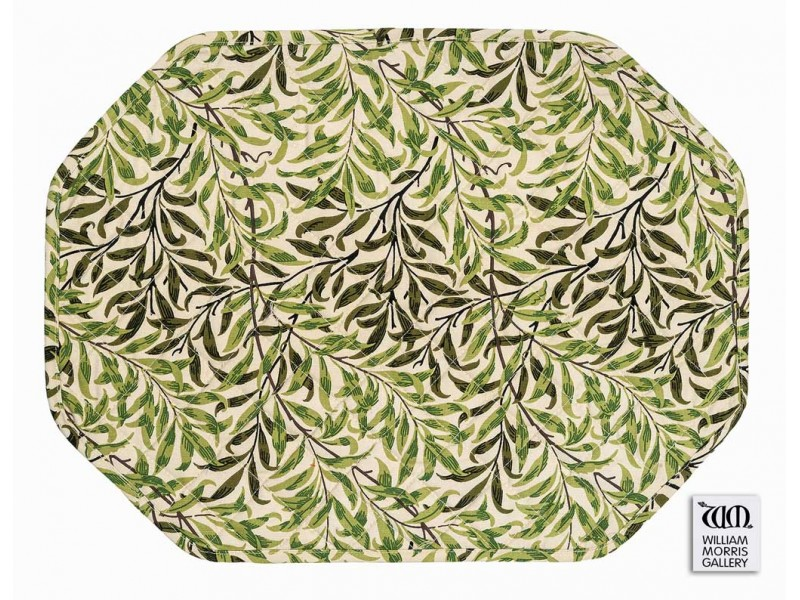 William Morris Gallery Willow Bough Green Quilted Placemat