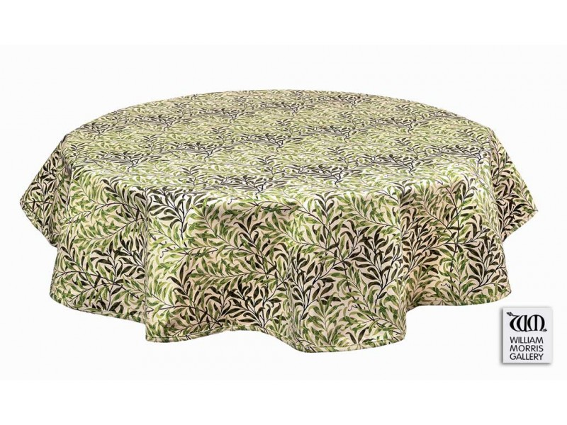William Morris Gallery Willow Bough Green Cotton Table Cloths