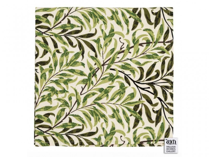 William Morris Gallery Willow Bough Green Napkins