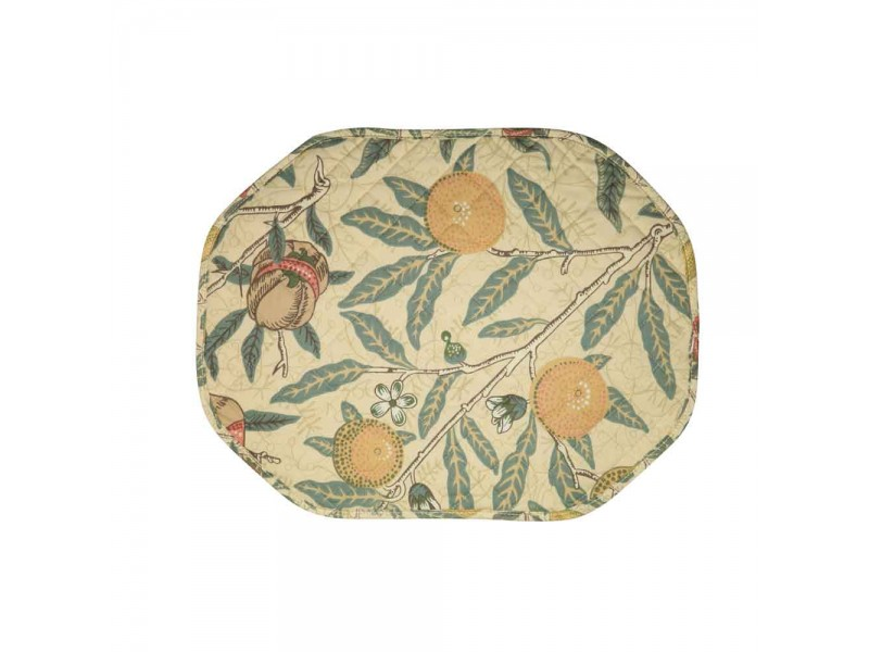 William Morris Fruits Major Cotton Quilted Placemats