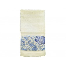 William Morris Gallery Blue Compton Trimmed Towel