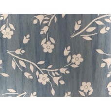 Le Chateau Oil Cloth Table Linen Per Metre Floral Sprig Blue