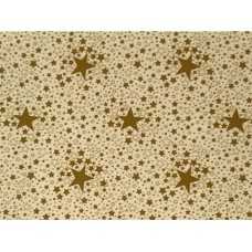 Le Chateau Oil Cloth Table Linen Per Metre Stars Gold