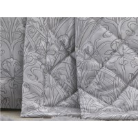 Laurence Llewelyn-Bowen New Silver Iris Quilted Bedspread