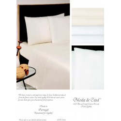 Moda De Casa 430 Thread Count Cotton Plain Dye Bedlinen