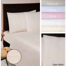 Moda De Casa Open Stitch Plain Dye Flat Sheets