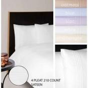 Moda De Casa 210 Thread Count Sateen With Pleats Bedlinen