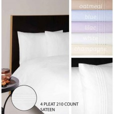 Moda De Casa 210 Thread Count Sateen With Pleats Flat Sheets