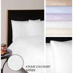 Moda De Casa 210 Thread Count Sateen With Pleats Bedlinen