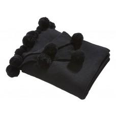 Oasis New Pom Pom Black Throw & Cushion
