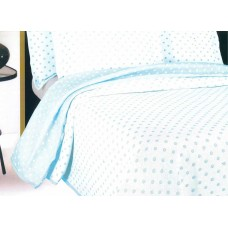 Elainer Darcy Polka Dot Sky Bedspreads and Pillowsham