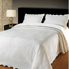 Elainer Julia White Bedspreads and Pillowsham