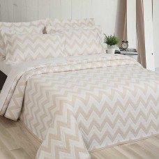 Elainer Diagonal Champagne Bedspreads and Pillow sham