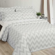 Elainer Diagonal Grey Bedspreads and Pillow sham