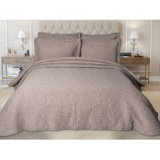 Elainer Embossed Blush Bedspreads and Pillowsham