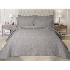 Elainer Embossed Grey Bedspreads and Pillowsham
