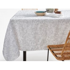 Elainer Water Repellent Swirls Light Grey Table Cloths & Napkins