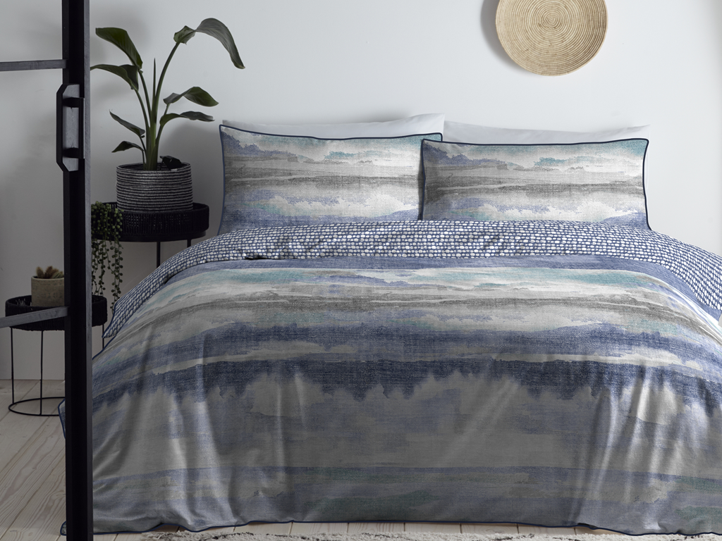 Appletree Landscape Navy Duvet Cover Sets