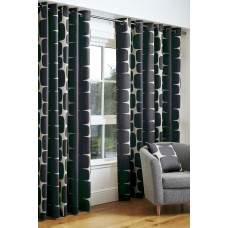Scion Lohko Black Eyelet Curtain Pairs