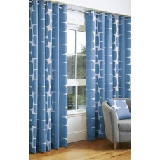 Scion Lohko Denim Eyelet Curtain Pairs