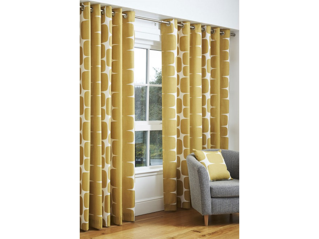 Scion Lohko Honey Eyelet Curtain Pairs