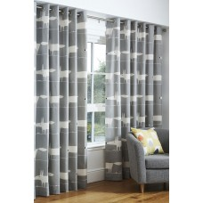 Scion Mr Fox Grey Eyelet Curtain Pairs