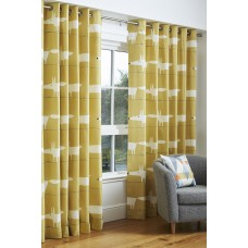 Scion Mr Fox Ochre Eyelet Curtain Pairs