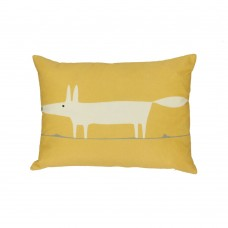 Scion Mr Fox Ochre Filled Cushion