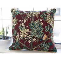 William Morris New Tapestry Tree Of Life Red Cushions