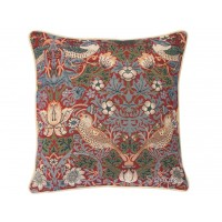 William Morris New Tapestry Strawberry Thief Red Cushions