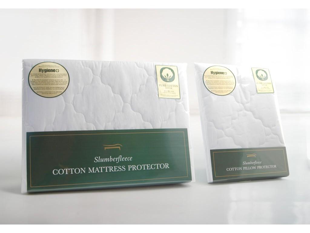 Slumberfleece Cotton Anti-Bacterial Wavy Mattress & Pillow Protectors