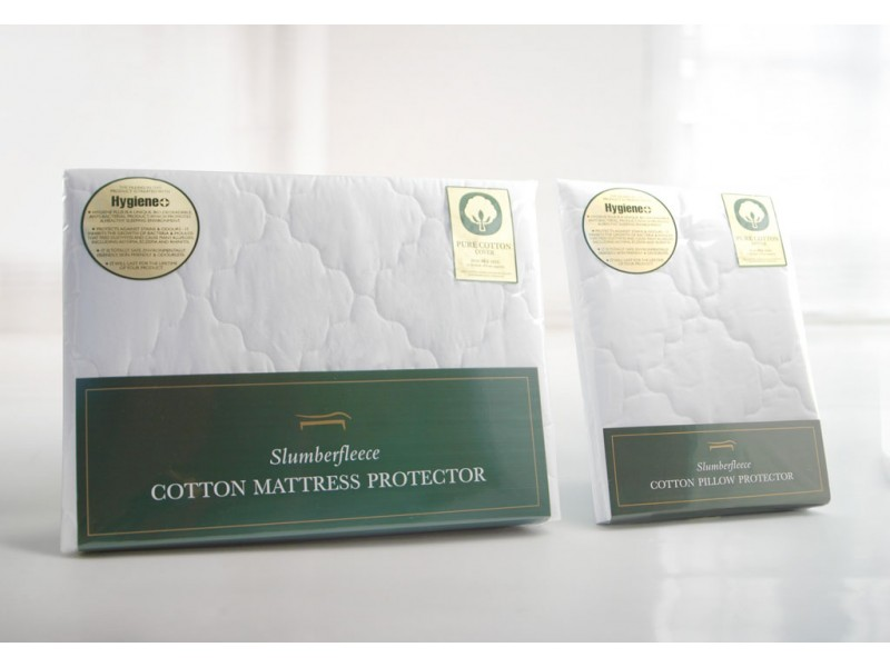 Slumberfleece Cotton Anti-Bacterial Wavy Mattress & Pillow Protectors