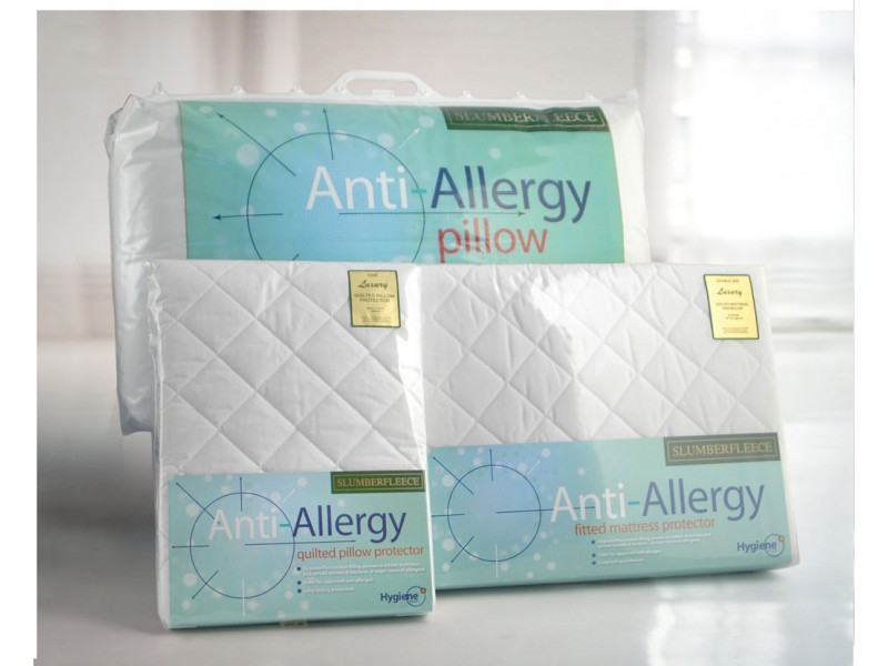 Slumberfleece Anti-Allergy Fitted Mattress and Pillow Protectors