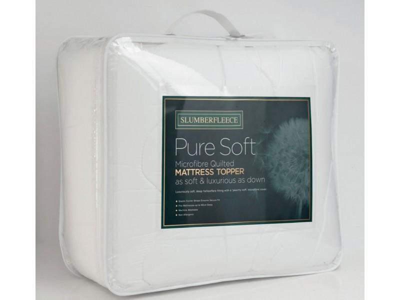 Slumberfleece Pure Soft Microfibre Quilted Mattress Toppers