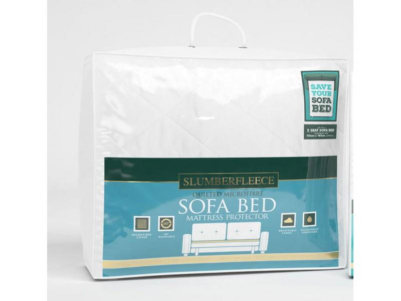 Slumberfleece Waterproof Quilted Microfibre Sofa-Bed Mattress Protectors