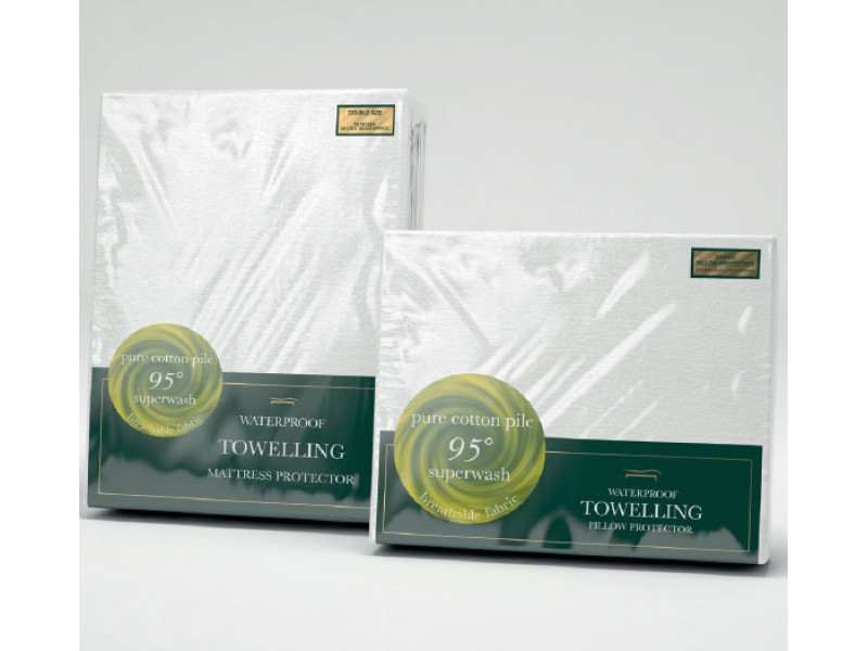 Slumberfleece Waterproof Towelling Mattress and Pillow Protectors