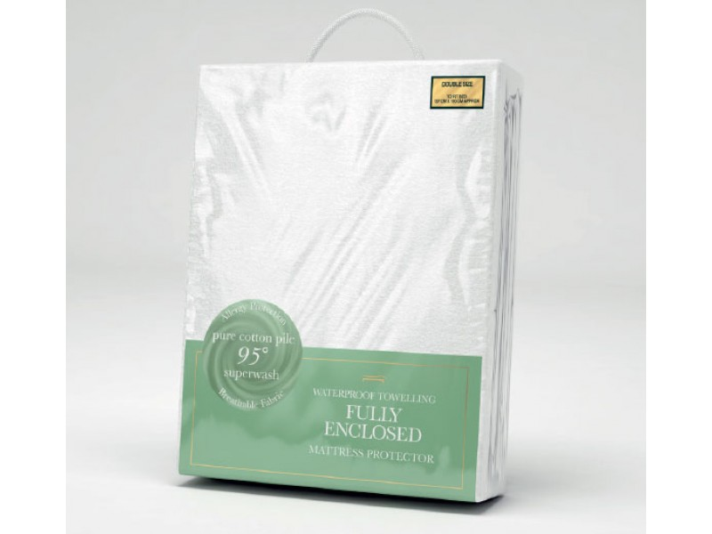 Slumberfleece Fully Enclosed Waterproof Towelling Mattress Protectors