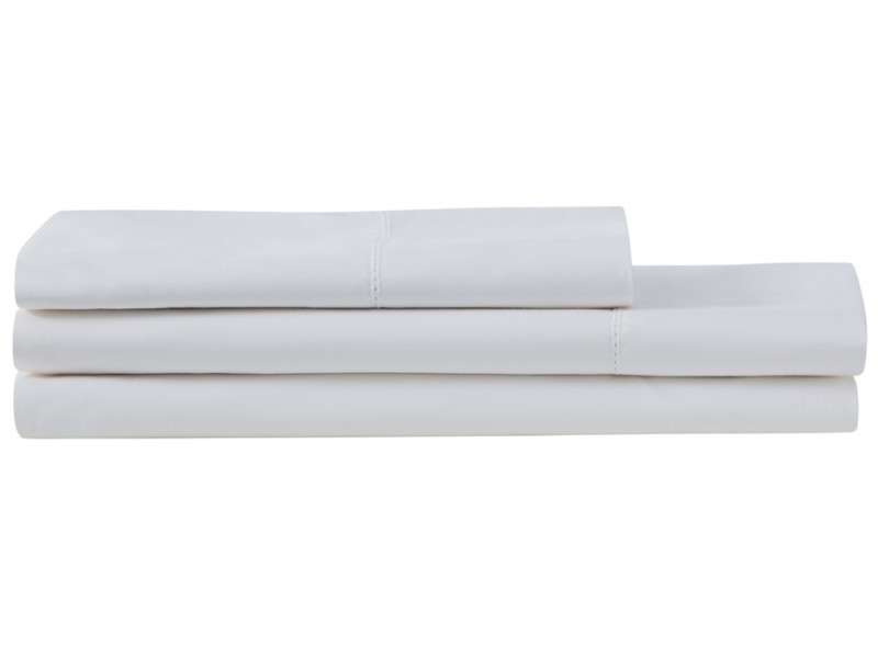 Sheridan 1000 Thread Count Sateen Snow White Flat Sheets