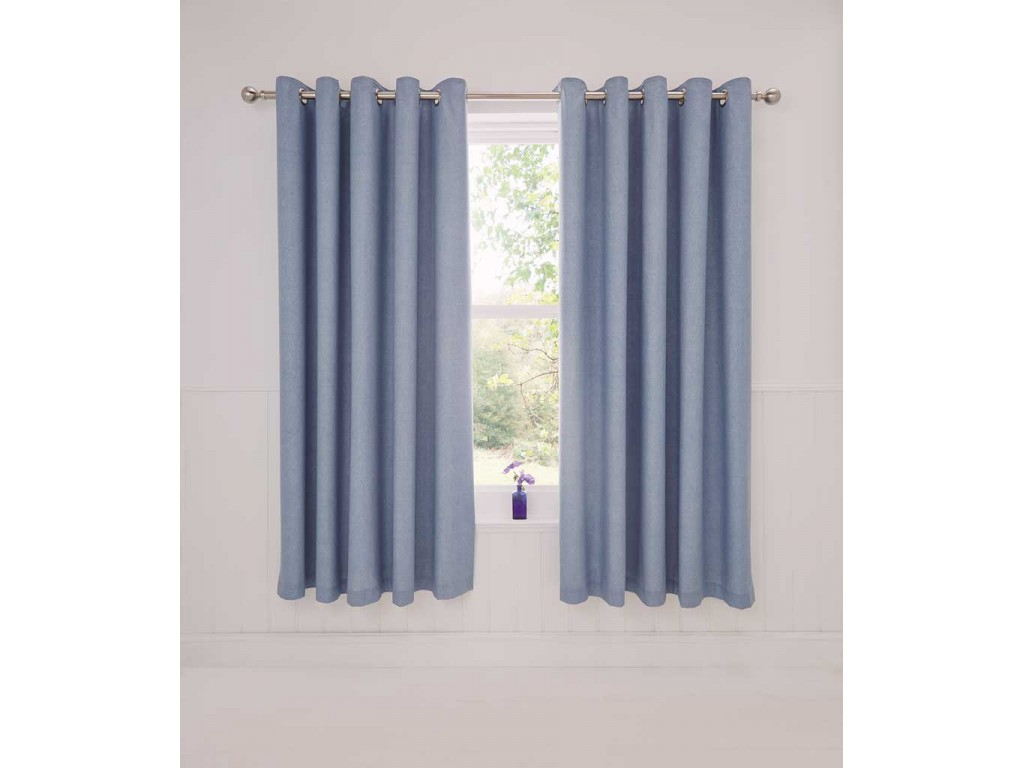 Dreams N Drapes Rathmoore Blue Thermal Lined Curtains
