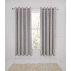 Dreams n Drapes Rathmoore Silver Thermal Lined Curtains