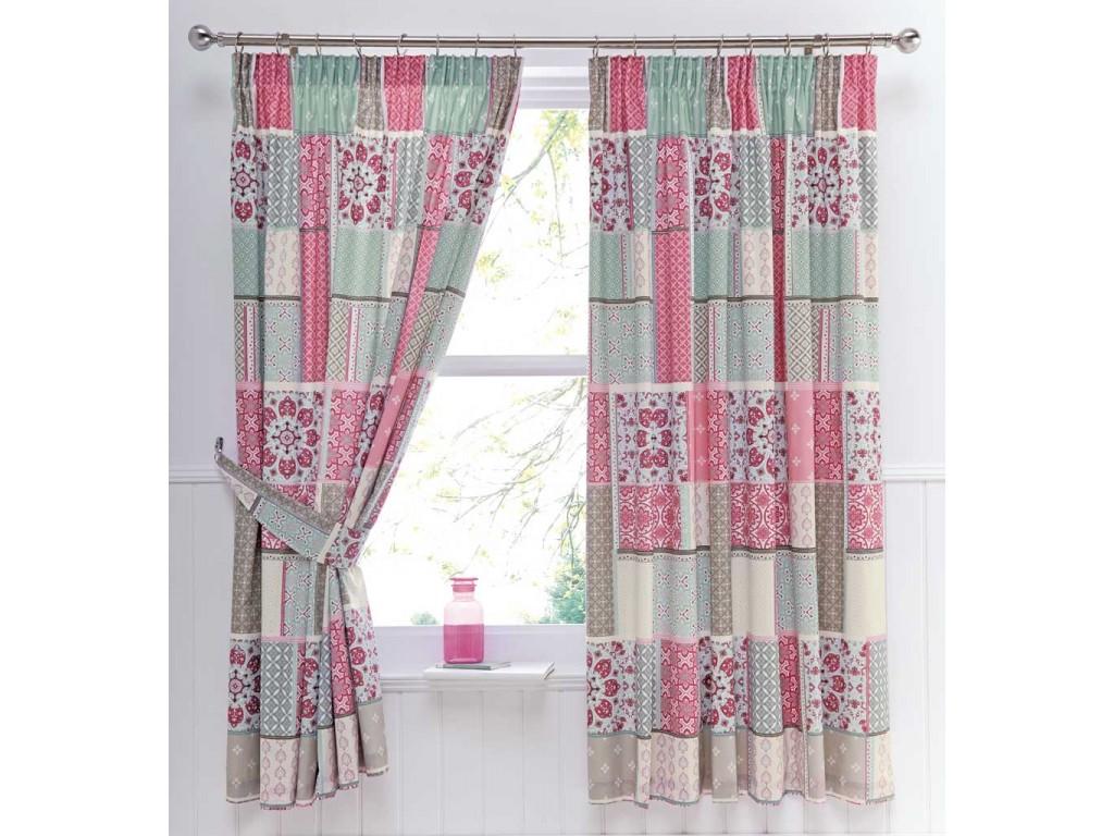 Dreams N Drapes Shantar Pink Thermal Lined Curtains