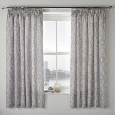 Dreams n Drapes Alford Silver Lined Pencil Pleat Curtains