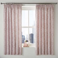 Dreams n Drapes Alford Blush Lined Pencil Pleat Curtains