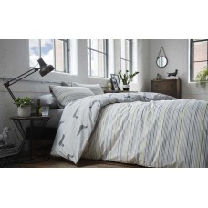 Racing Green Andover Silver Duvet Cover Sets