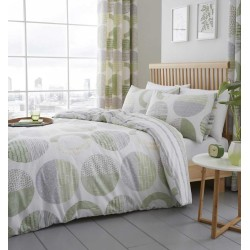 Fusion Aslan Green Duvet Cover Sets and Curtains