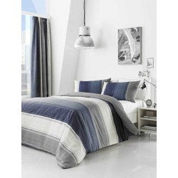 Fusion Betley Blue Duvet Cover Sets and Curtains