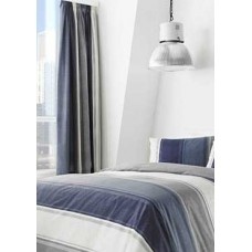 Fusion Betley Blue Unlined Curtains