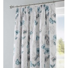 Dreams n Drapes Fliss Duck Egg Pencil Pleat Lined Curtains